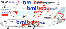 bmi baby Boeing 737-300 decals for Minicraft 1/144 kit
