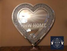 HHW large diamond crush Wall Mirror HEART jewel sparkle wedding 90cm x 90cm