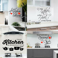 Kitchen Vinyl Wall Decal Home Removable Sticker Room Mural Art Restaurant Decor