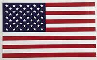 "3 - Pack American Flag Vinyl Bumper Sticker 3"" x 5"" Peel & Stick - Made in USA"