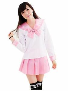 Japanese School Girl Students Uniform Sailor Suit Women Cosplay Anime Costume