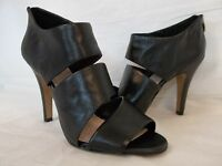 Vince Camuto Size 9.5 M KARMI Black Leather Open Toe Booties New Womens Shoes