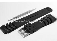 SUPERB QUALITY DIVERS Z22 RUBBER WATCH STRAP. MADE TO FIT SEIKO. 2mm BARS & TOOL