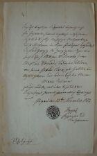 102c❚ Urkunde von 1852 , aus Glogau ( ? Taufe ? )