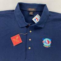 VTG NEW NBA 1995 Basketball McDonald's Championship Men's Polo Shirt Blue • XL