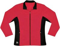 New Ion Women's Expression Poly Tricot Knit Warm Up Cheer Athlethic Jacket Red