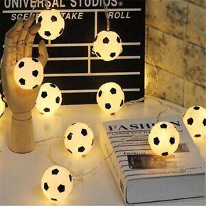 10 LED White Lamp Football Fairy String Light Boys Battery Bedroom Decor Lights