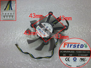 FirstD FD8015U12D For ASUS HD6770 graphics card cooling fan DC12V 0.5AMP 4-Pin
