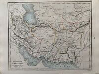 1853 Ancient Persia Hand Coloured Antique Map by Alexander Findlay