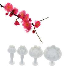 4 Pcs/set Peach blossom shape plastic cookie cutters flower series biscuit DP