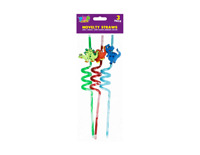Reusable Curly Kids Silly Straws- Novelty Animal Dinosaur Fun Child Party Bag