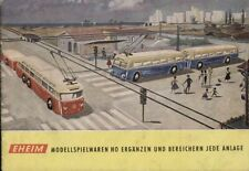 catalogo EHEIM 1960 Modellspielwaren HO Trolleybus Blau Seilschwebebahn D  aa