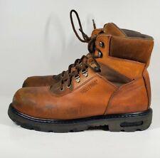 Wolverine Safety Steel Toe Work Boots Sz 11 Brown