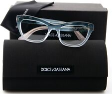 NEW D&G Dolce & Gabbana DG 3253 3059 BLUE GRADIENT AZURE EYEGLASSES 49mm Italy