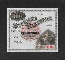 UNC 100 kronor 1954 SWEDEN
