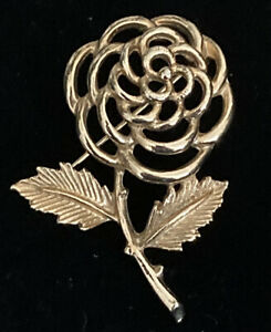 Gold Tone Flower Brooch Vintage Sarah Coventry Lapel Pin Costume Jewellery