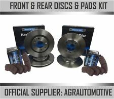 FRONT AND REAR BRAKE DISCS AND PADS FOR JAGUAR X TYPE 2.5 V6 2//2001-2004