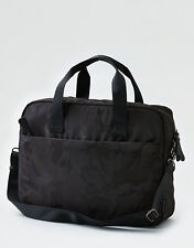 American Eagle Outfitters Mens Black Camo Print Messenger Shoulder Laptop Bag