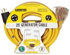 Generator Power Cord, 25 ft., Champion Power Equipment 240-Volt Heavy Duty Power