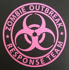 1 NEW PINK ZOMBIE OUTBREAK RESPONSE TEAM BIOHAZARD LOGO DECAL STICKER EMBLEM