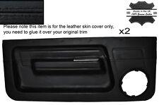 BLACK Stitch 2x FRONT DOOR card pelle copre gli accoppiamenti RENAULT 5 GT TURBO Phase 1 MK1