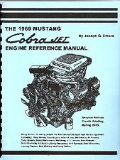 1969 Ford Mustang 428 Cobra Jet CJ SCJ Engine Book Manual Original NOS *SIGNED*