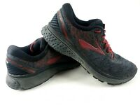 Brooks Mens Ghost 11 Red Black Running Shoes Lace Up Size 8.5 M