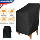 Waterproof High Back Stackable Patio Chair Cover Outdoor Furniture Protection