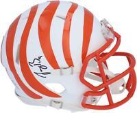 Autographed Joe Burrow Bengals Mini Helmet Fanatics Authentic COA Item#10921150