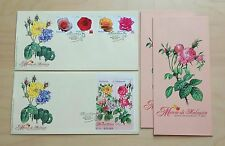 2003 Malaysia Flowers Roses 4v Stamps & Miniature Sheet MS on 2 FDC
