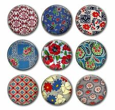 FEED SACKS - Beautiful Feed Sack Fabric Designs,9 Magnet Set in Gift Tin