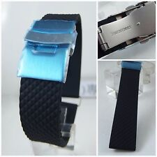 20mm RUBBER WATCH BAND FIT ORIS BC TIRE STY DIVER STRAP 20 mm W/ 18mm D.BUCKLE