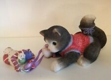 Calico Kittens By Priscilla Hillman - Sock Full Of Love - Christmas