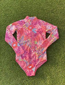 New Ex TU girls floral rash body all in one swimming beach costume  2 - 12 years