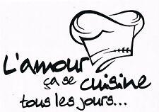 Stickers Cuisine L'amour Ça SE Cuisine tout les jours