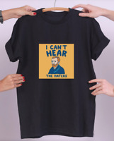 VAN GOGH T-SHIRT I CAN'T HEAR THE HATERS PARODY FUNNY 1
