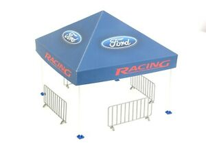 Diorama Model Rally Tent in Scale 1:18 Sport Car Display for Die Cast Models