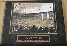 THE METRODOME MINNESOTA VIKINGS FRAMED 8 X 10 PHOTO PLAQUE-SIGN-MAN CAVE ART