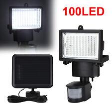 100LED Solar lampe Solarleuchte Außen Solarstrahler mit Bewegungsmelder Licht