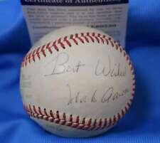 HANK AARON PSA DNA Coa Autograph Macphail American League Signed Baseball