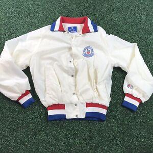 Vintage Mens Champion USA Olympic Jacket Size Medium White