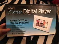 "SHOMI 7"" Screen Digital Player Photo Frame, NIB"