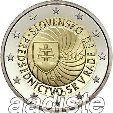 2 EURO 2016 SLOVACCHIA SLOWAKEI ESLOVAQUIA SLOVAQUIE - PRESIDENZA UE - FDC UNC