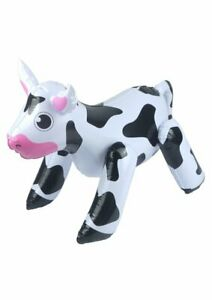 Inflatable 53cm Cow - Animal Decoration Prize Prop Blow Up Party Pool Moo