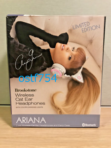 Brookstone Ariana Grande Wireless Cat Ear Headphone Limited Edition Bluetooth