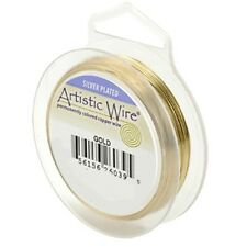 Artistic Wire Silver Plated Gold 18 Gauge 20 feet 41928 Round Shiny