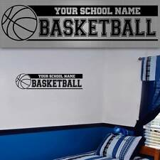 "Personalized Basketball Wall Decal. Basketball Wall Sticker, 48""x12"""