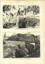 1882 vista dal tetto Illustrated London News ufficio Strand