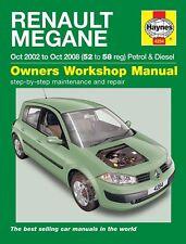 Haynes Manual 4284 Renault Megane 1.5 DCi Expression 1.9 DCi Dynamique 2002-2008