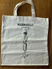 CHANEL CANVAS TOTE BAG FROM THE MADEMOISELLE PRIVE EXHIBITION LONDON EDITION